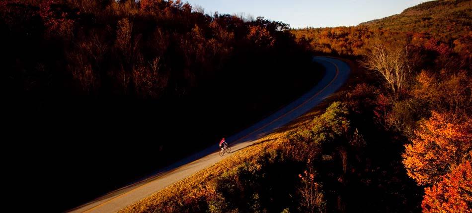 road biking in Transylvania County
