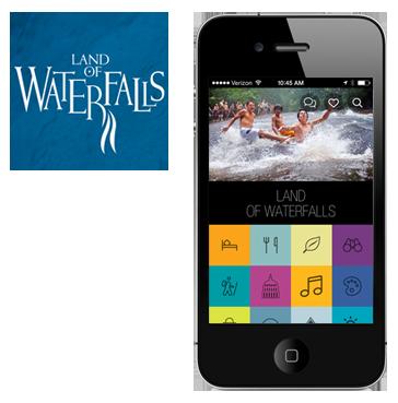 Land of Waterfalls Phone App